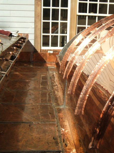 New Copper Barrel Roof And Flat Seam Roofing Triple M